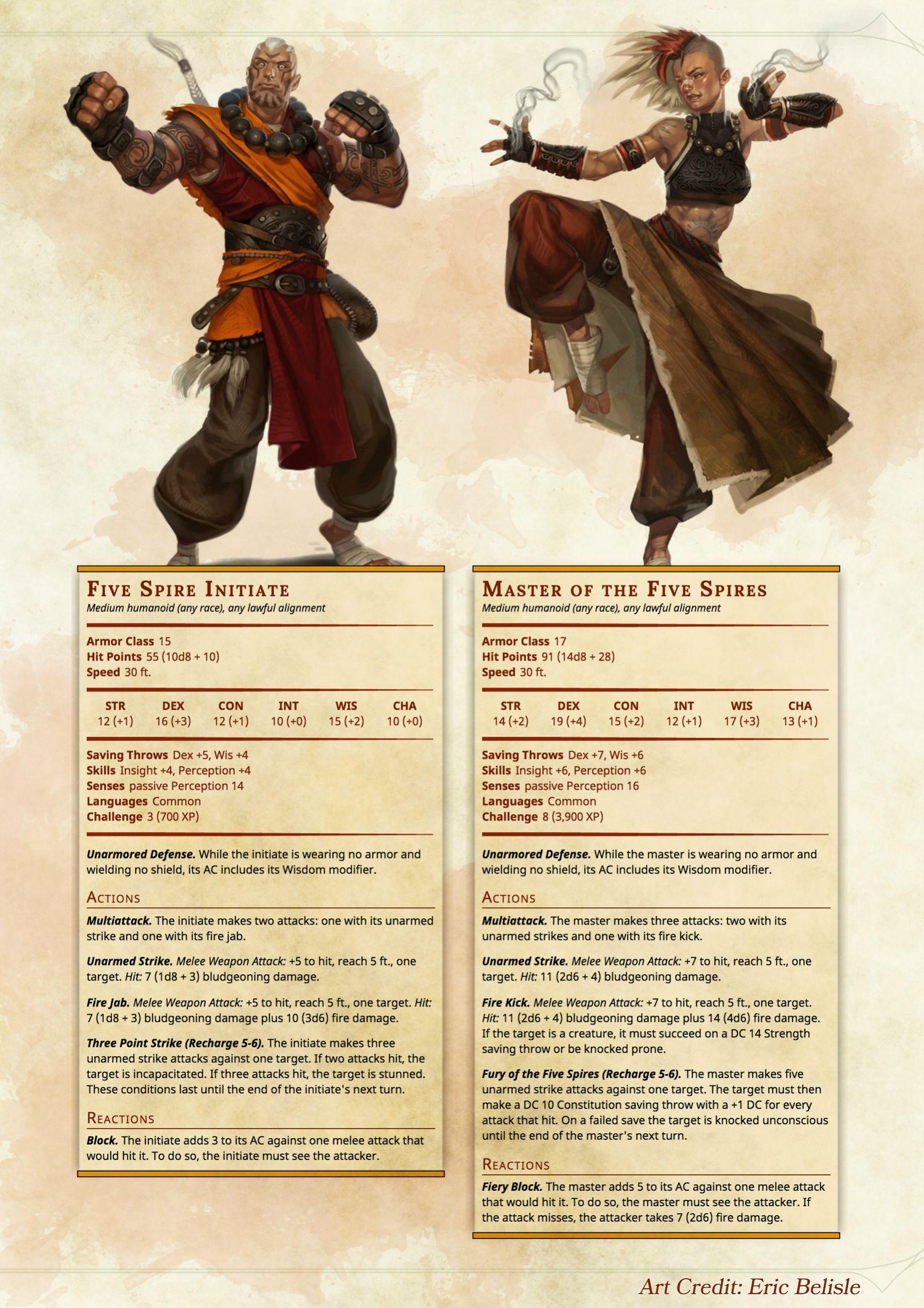The Monk Class D&D