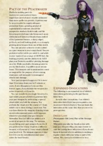 The Warlock Class 5th edition