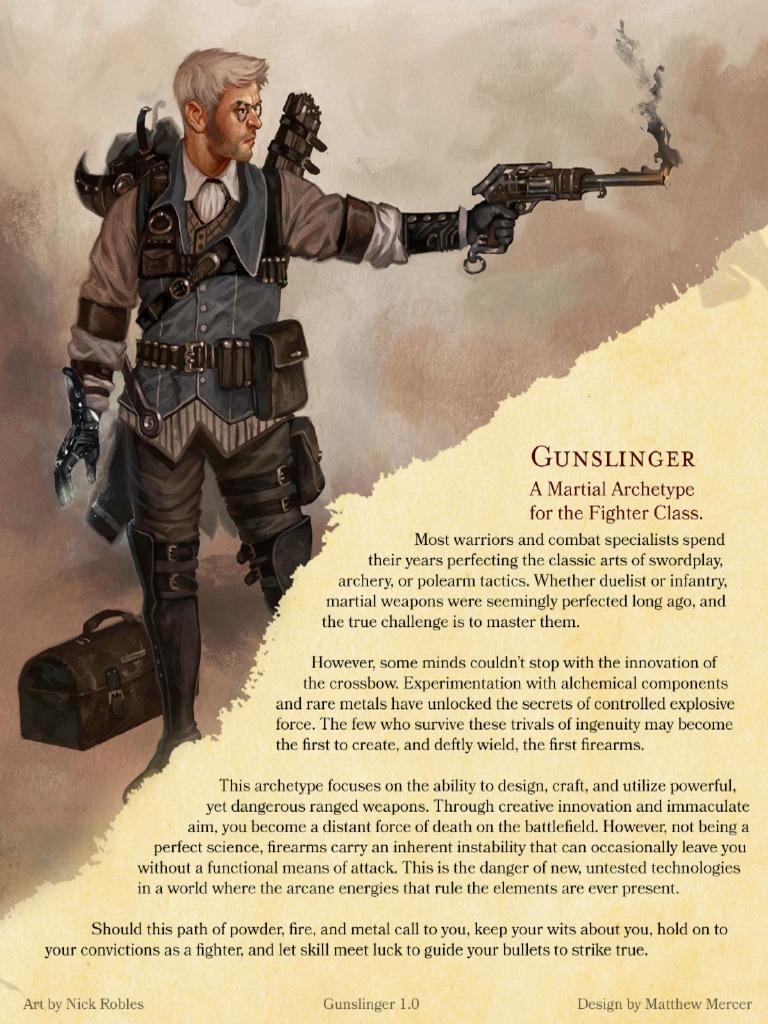Gunslingers 5e